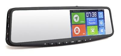 Зеркало заднего вида со встроенным навигатором GPS и видеорегистратором Full HD на базе Android 4.4.2