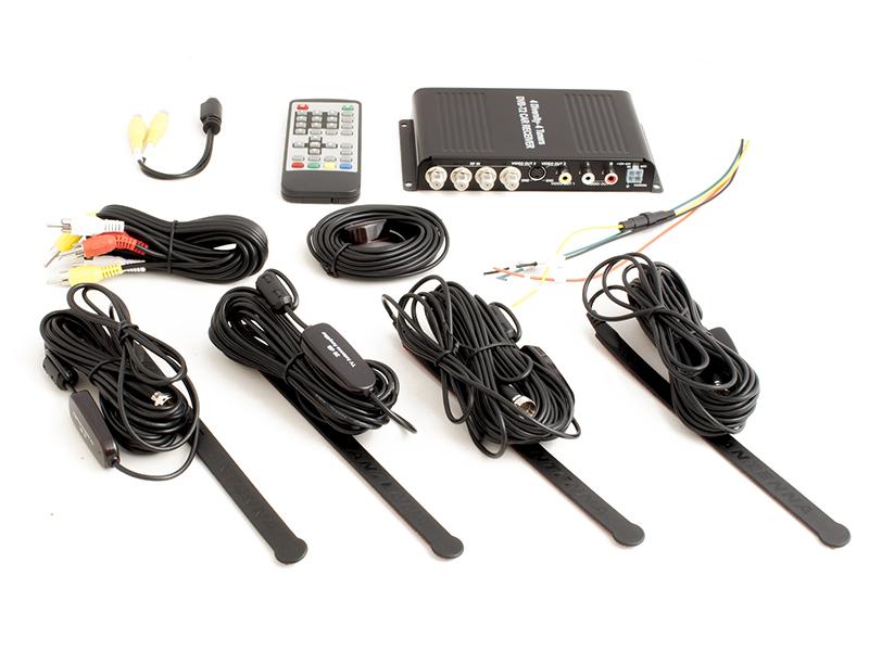 Автомобильный цифровой HD ТВ-тюнер DVB-T2 компактного размера AVIS